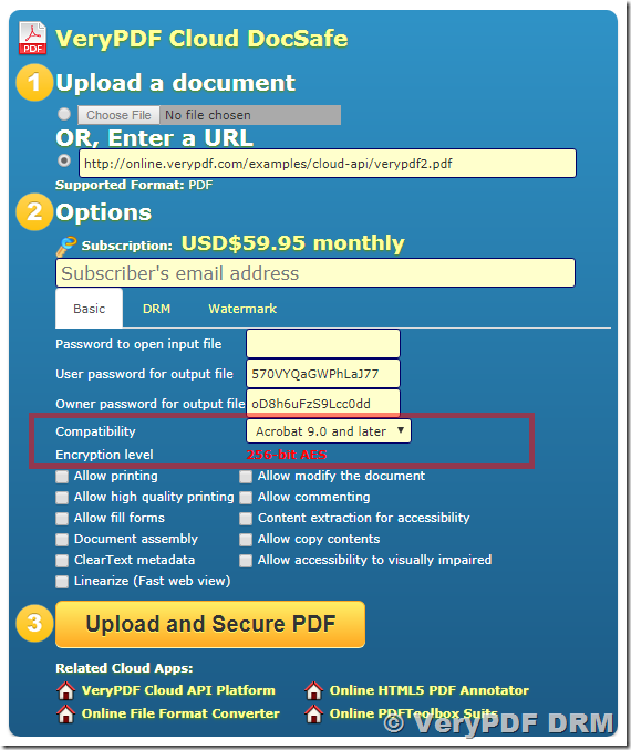 AES 256 algorithm and support in VeryPDF Cloud DocSafe | VeryPDF DocSafe